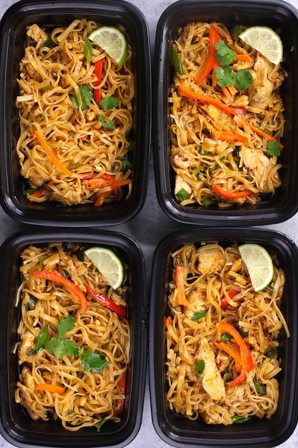 Chicken Pad Thai Meal Prep Recipe With Video Tipbuzz