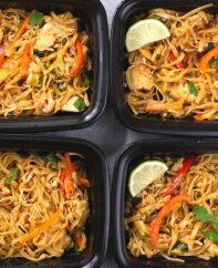 Chicken Pad Thai Meal Prep - an easy way to enjoy pad thai flavors on-the-go