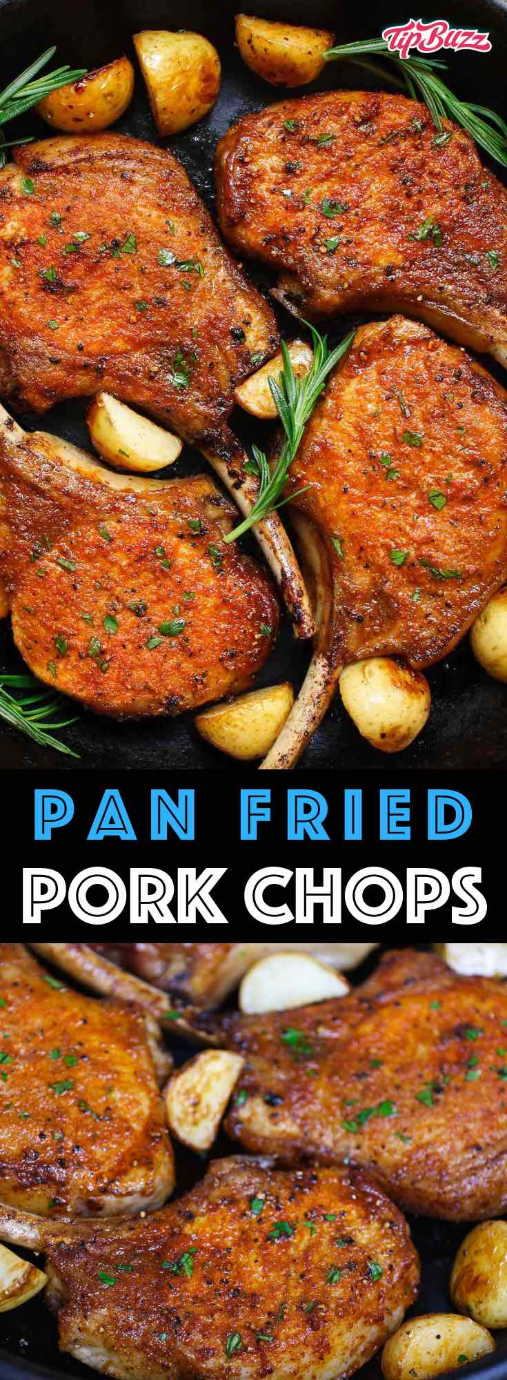 Pan Fried Pork Chops are a scrumptious, 5-ingredient pork chop recipe that'll be on your dinner table in 15 minutes. They feature a mouthwatering golden crust with no marinating or breading required.