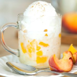 This Peach Cobbler Mug Cake is an easy recipe you can make in minutes using the microwave