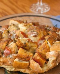 Cheesy Pull Apart Pizza Bread - a delicious appetizer that's easy to make