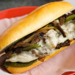 Philly Cheese Steak - the classic sandwich served on a hoagie roll
