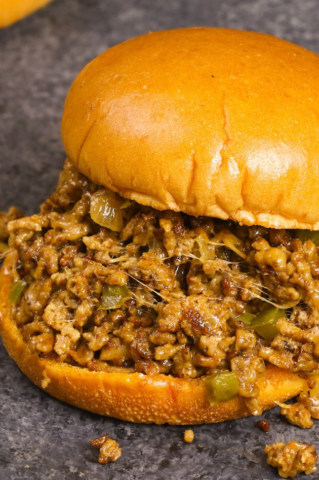 Philly Cheesesteak Sloppy Joes are the best sloppy joes you will ever have! This easy recipe combines your favorite Philly cheese steak and homemade sloppy joes into one amazing meal!