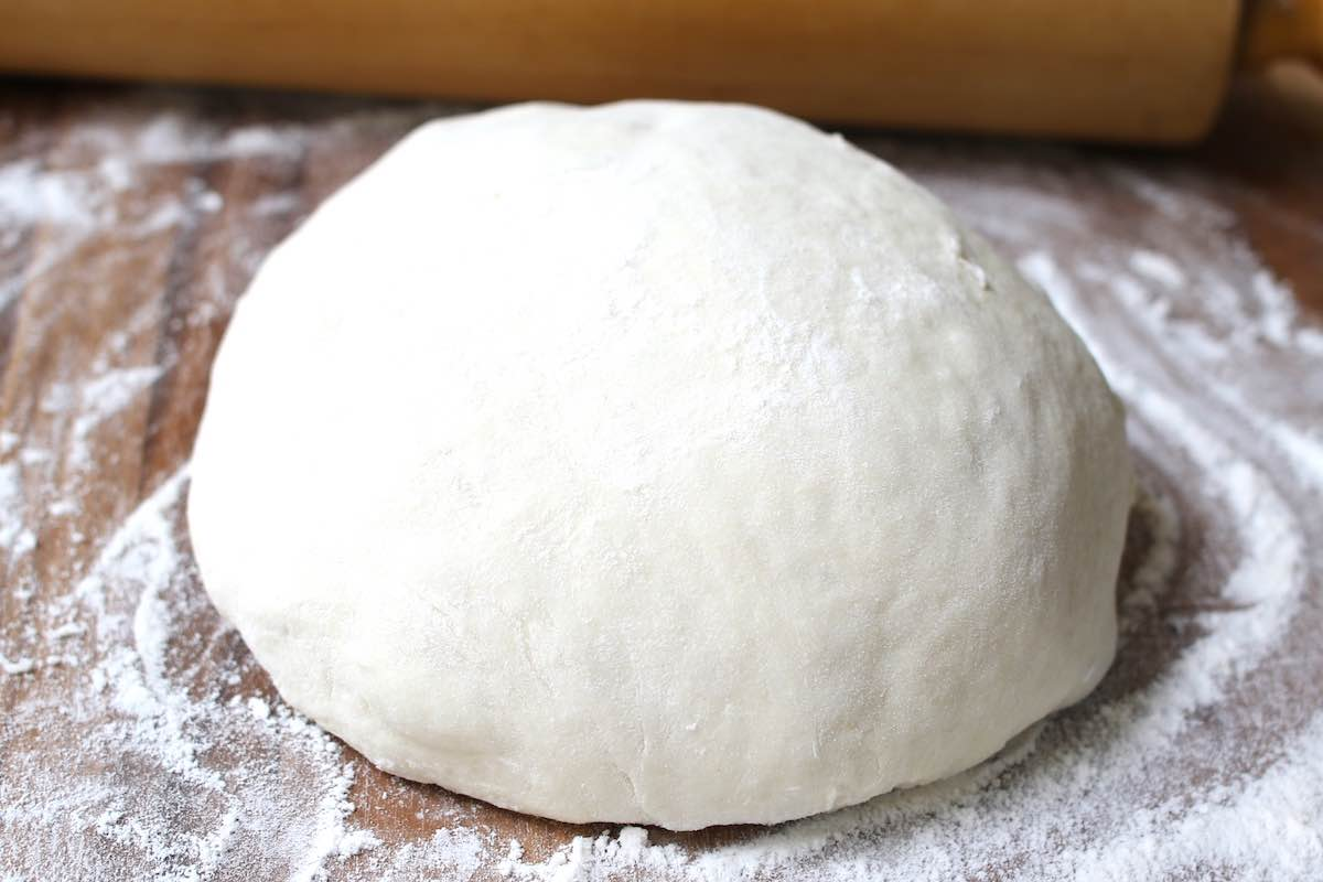 Homemade Pizza dough after rising