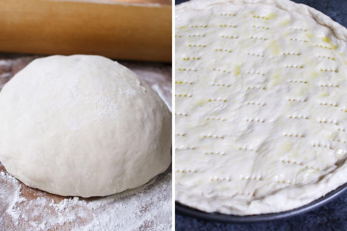 Preparing a homemade pizza dough