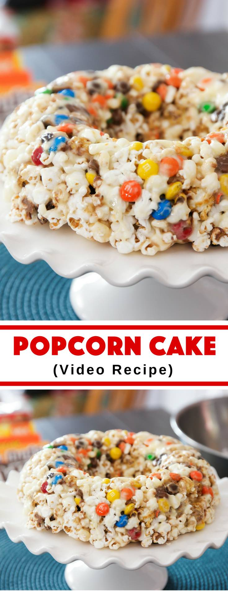 Get ready for an awesome movie or date night with this Popcorn Cake! It tastes better than anything you can find in a movie theater, and it looks fantastic.
