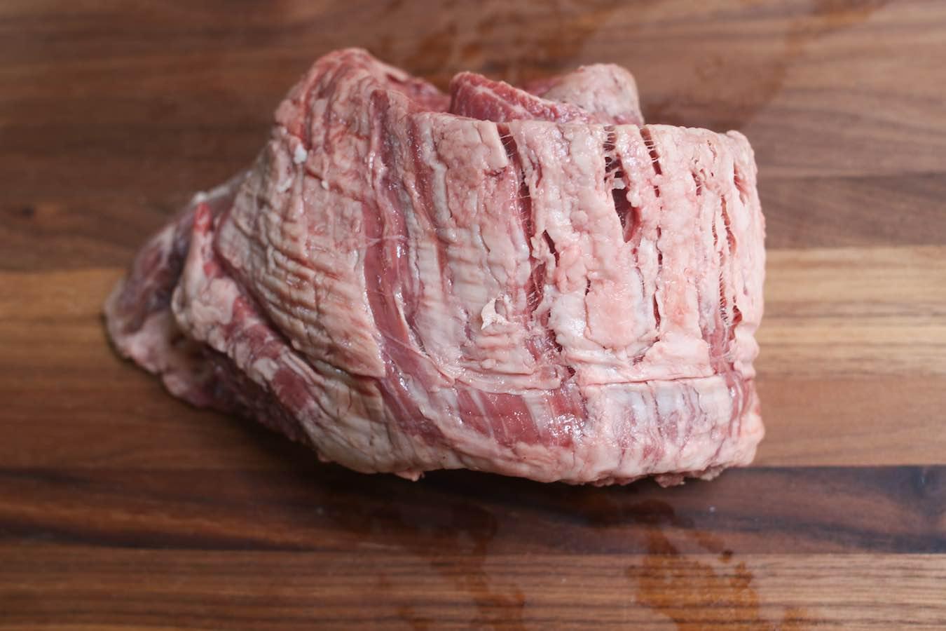 raw skirt steak