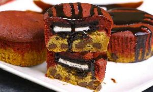 Red Velvet Slutty Brownie Cupcakes