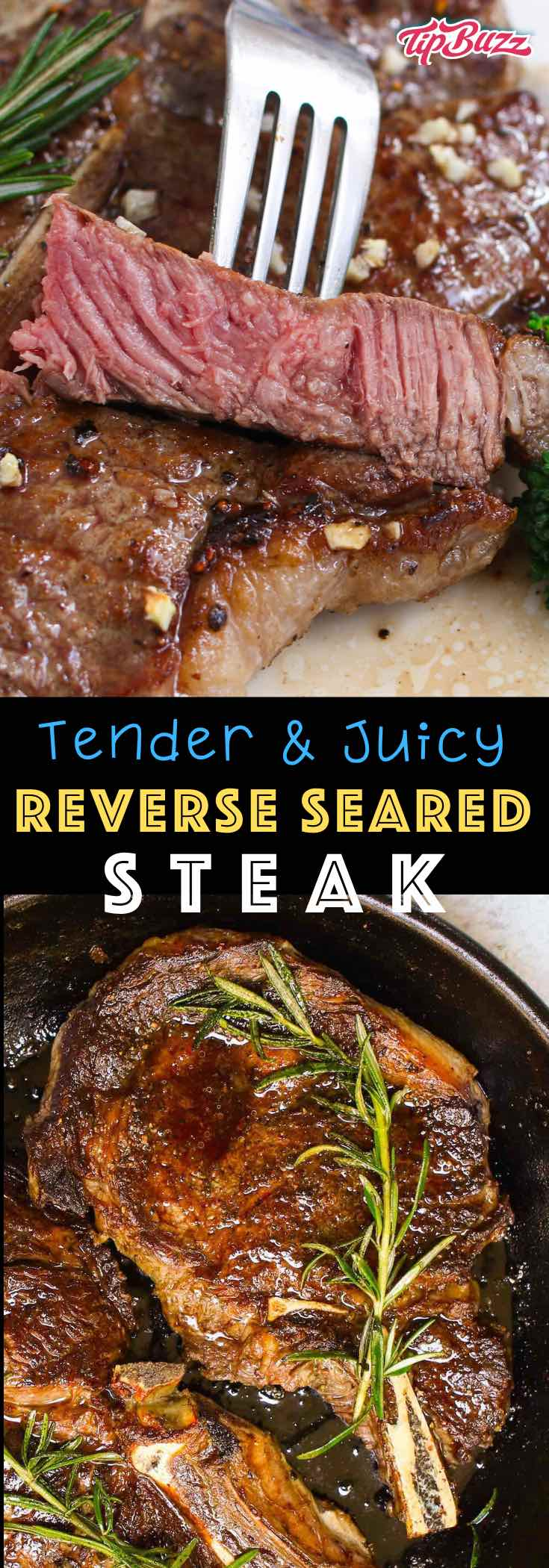 Reverse Sear a Steak - learn how to make the most tender and juicy steak using a reverse sear in the oven or on the grill  #reversesear