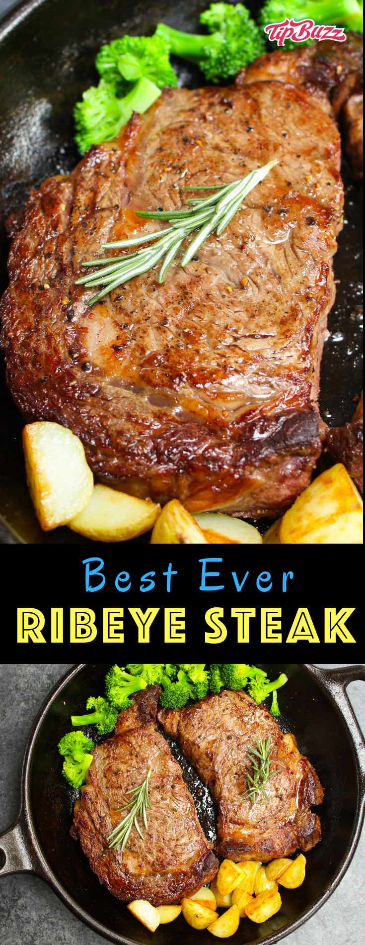 Rib eye steak is a mouthwatering dinner idea when you want to splurge. It's one of the most tender steaks but also the most flavorful! It only takes 20 minutes to make on a stovetop for a memorable dinner that's easy to prepare.