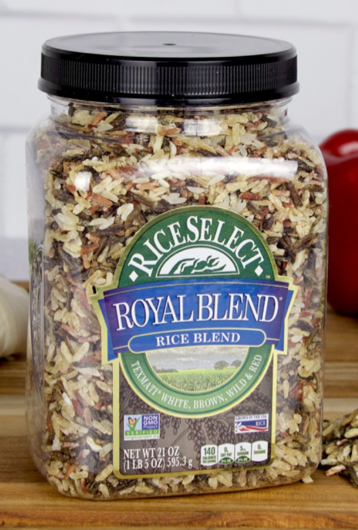 RiceSelect Royal Blend rice used to make stuffed bell peppers with beef and rice