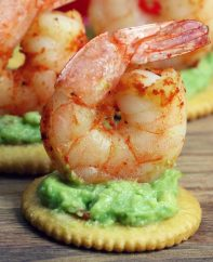 Simple and easy Ritz Cracker Appetizers: pair sweet and savory bite-sized finger food for your next party. These 4 recipes are so easy and come together in no time. 1. Jalapeno Popper Topper; 2. Raspberry Chocolate Cheesecake Bites; 3. Shrimp and Avocado Bites; 4. Strawberry Cheesecake Bites. Use versatile and delicious RITZ Crackers for all your entertaining needs.