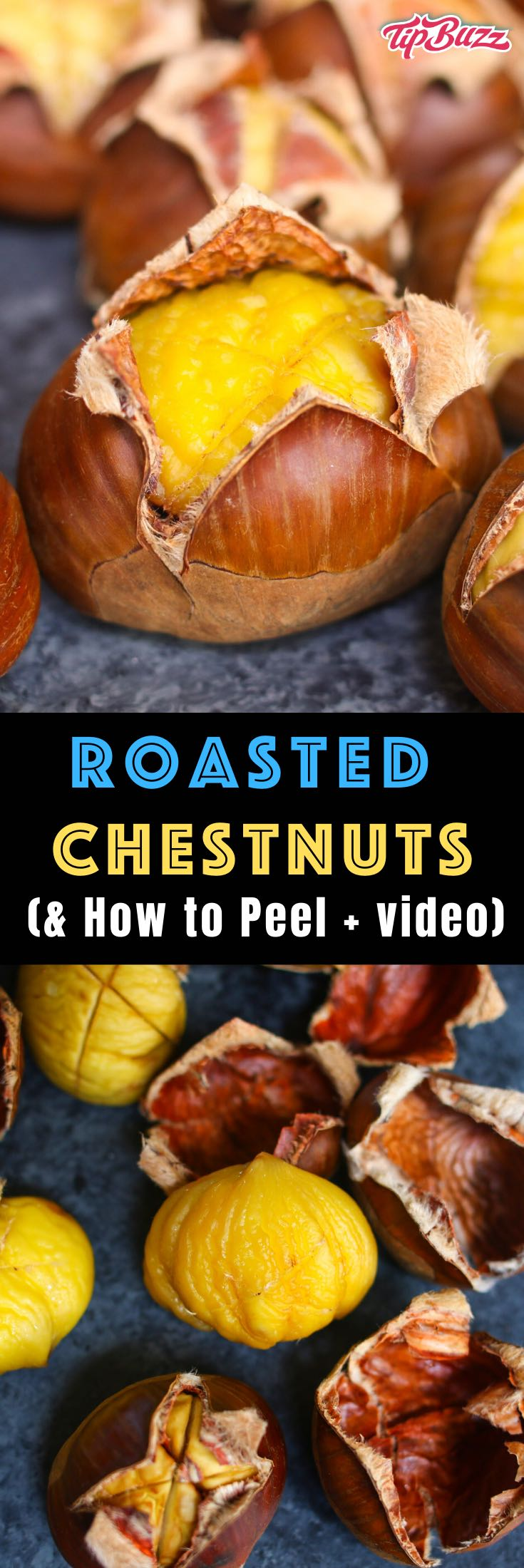 Roasted chestnuts are a healthy and hearty snack with a sweet, nutty flavor. Learn how to roast chestnuts in an oven, pan or on fire this holiday season. Scoring and soaking before roasting is the key to making this tree nut easier to eat. I'll also show you how to peel skins easily so you can enjoy delicious chestnuts!