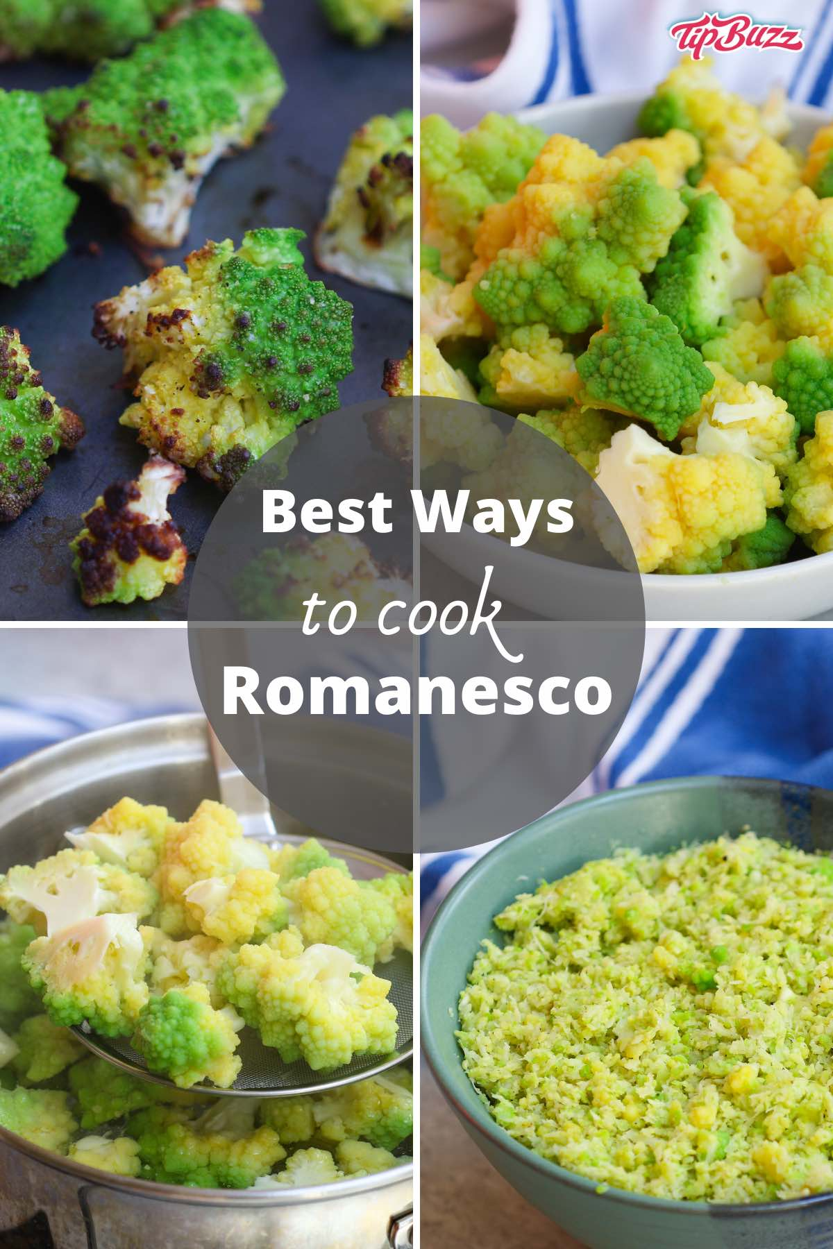 Romanesco is a delicious vegetable that's a cross between broccoli and cauliflower. It's so easy to prepare by boiling, roasting, ricing or steaming! #romanesco