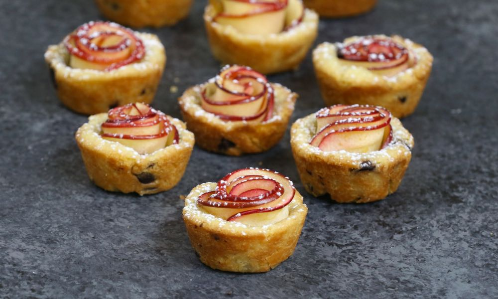 Apple Rose Cookie Cups