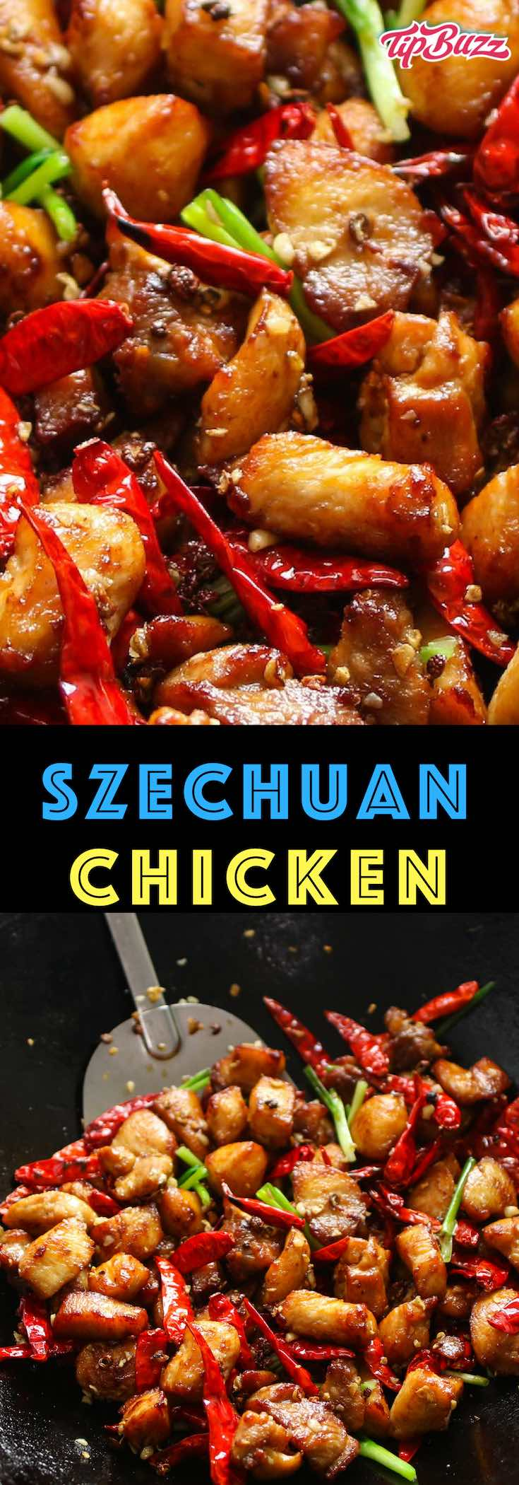 Szechuan Chicken is the classic Chinese dish featuring a fiery combination of garlic, ginger, dried chilis and Szechuan seasonings. It's ready in just 20 minutes for a dinner that will tantalize your taste buds, so much better than takeout!