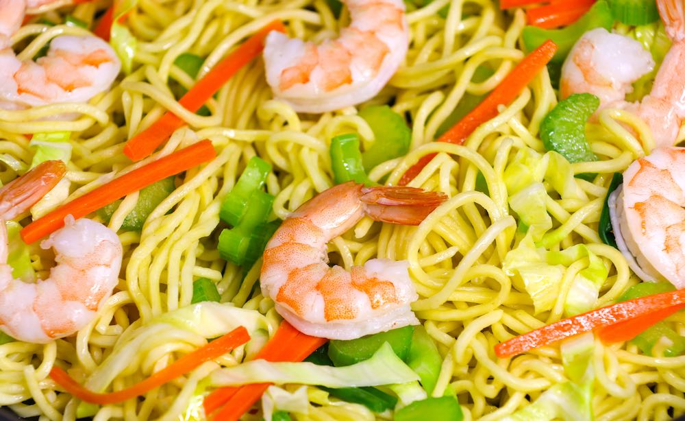 Make this quick and delicious Shrimp Lo Mein and skip the restaurant takeout! This will become one of your go-to weeknight dinner ideas that's easy to prepare in 20 minutes!