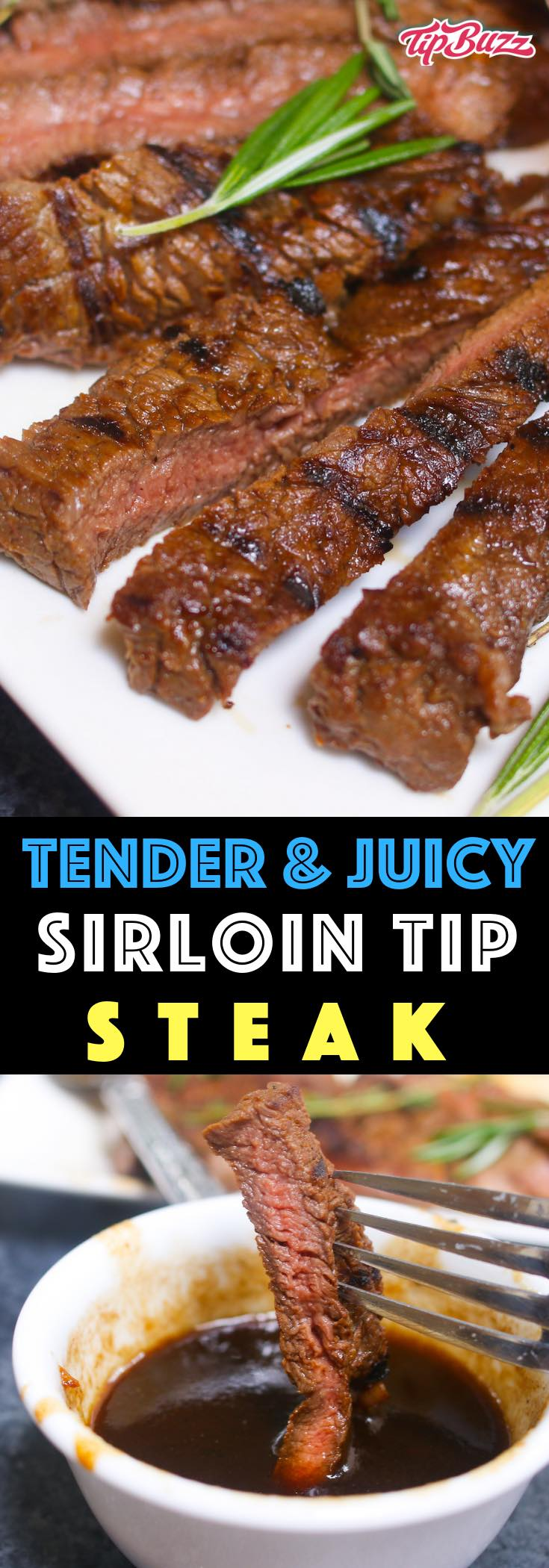 Sirloin Tip Steak is juicy and flavorful with a crunchy crust on the outside. A simple balsamic and honey marinade turns this lean cut into a tender steak dinner that melts in your mouth.
