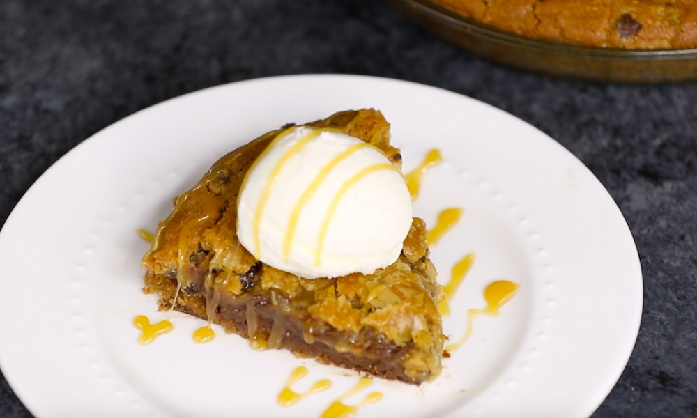 S'mores Stuffed Skillet Cookie