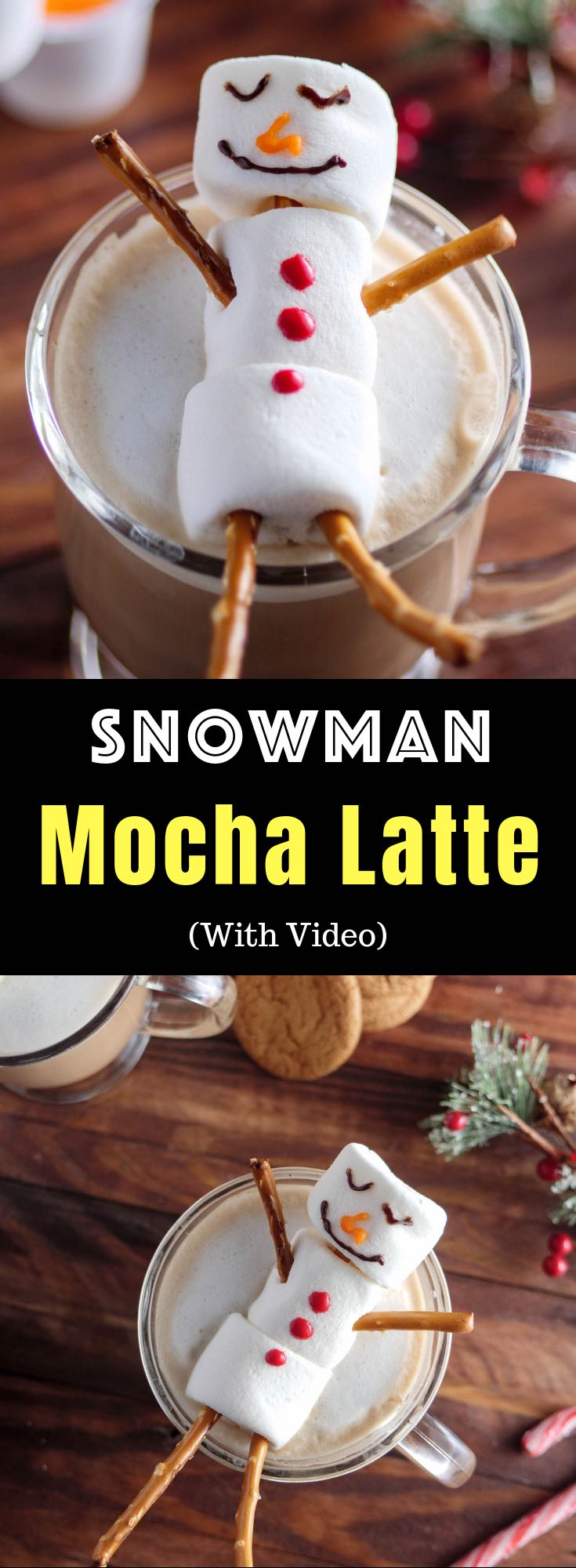 A Snowman Mocha Latte is an easy hot drink to serve your guests during the holiday season, and you can make it in minutes using Dunkin' Donuts K-cup pods from @Walmart and a few simple ingredients like cocoa, milk, marshmallows and decorating gel. Perfect for parties, kids activities. #DunkinYouBrewYou #ad