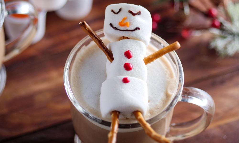 Snowman Mocha Latte