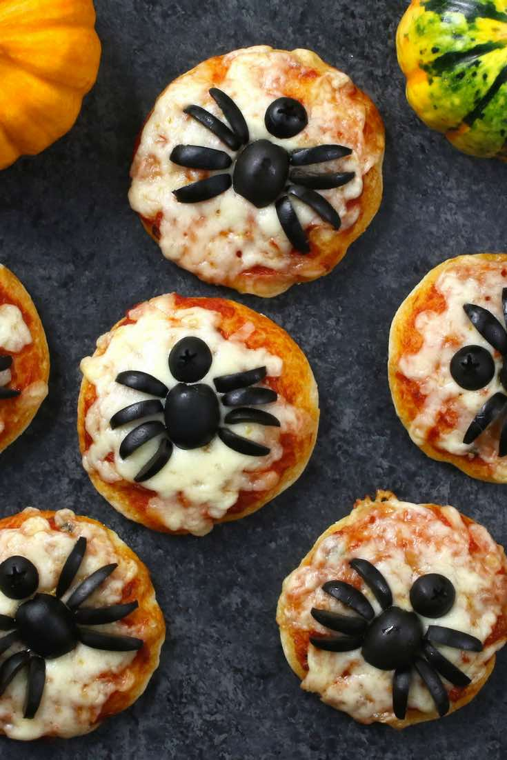 Mini Spider Pizzas For Halloween Recipe With Video Tipbuzz