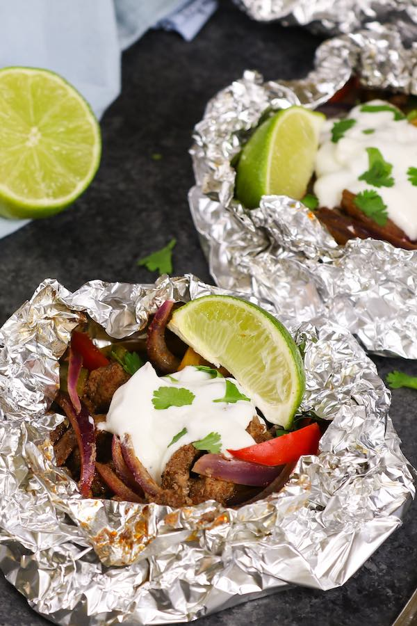 Steak Fajitas Foil Packets
