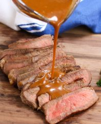 The most flavorful homemade Steak Sauce is made with just a handful of simple ingredients and takes only 15 minutes. It tastes so much better than the store-bought steak sauce.