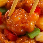 Sweet and Sour Chicken has the most delicious crispy chicken with chunks of onion, bell pepper and pineapple in a homemade sweet and sour sauce.