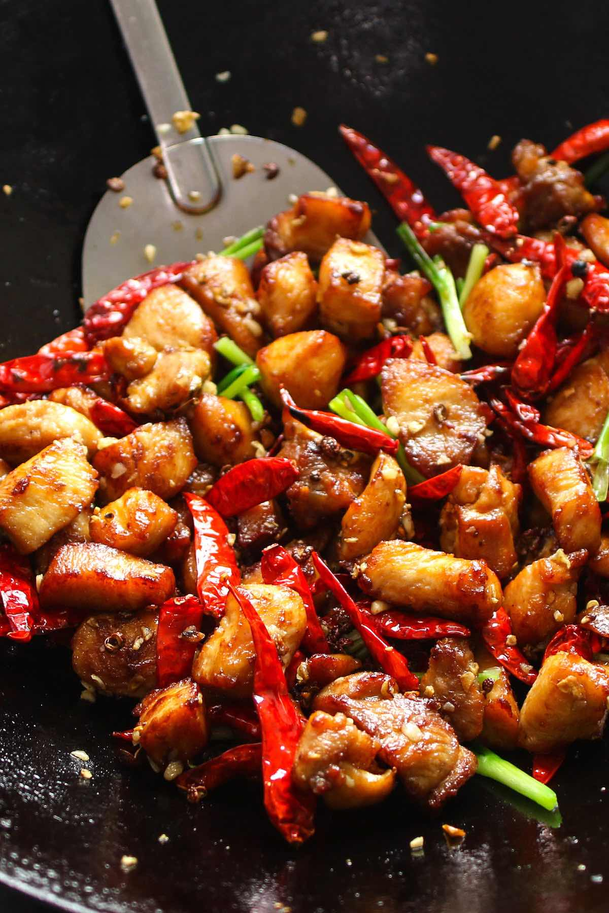 This Szechuan Chicken is an easy Chinese dish with the perfect combination of spicy, salty and sweet flavors. This Szechuan style chicken recipe tastes like your favorite Chinese takeout and is ready in less time. The best part, you can control the spiciness to make it mild or EXTRA HOT!
