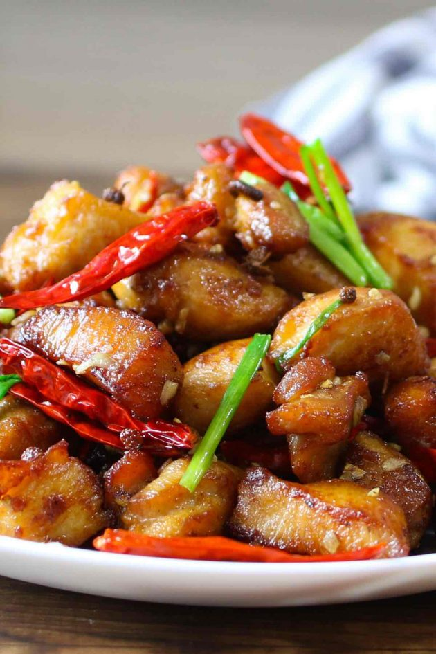 Szechuan chicken: No veggies