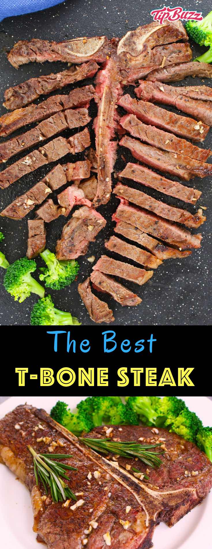 T-bone Steak seared to caramelized perfection on the outside and juicy in the middle. It's full of flavor with no marinating needed. Ready in less than 15 minutes, it is a quick and easy family favorite!