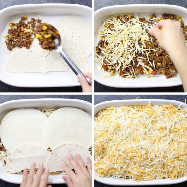 Taco Casserole Preparation