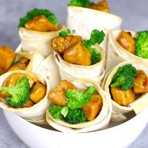 TeriyakI Chicken Cones are a fun way to make teriyaki chicken for a party