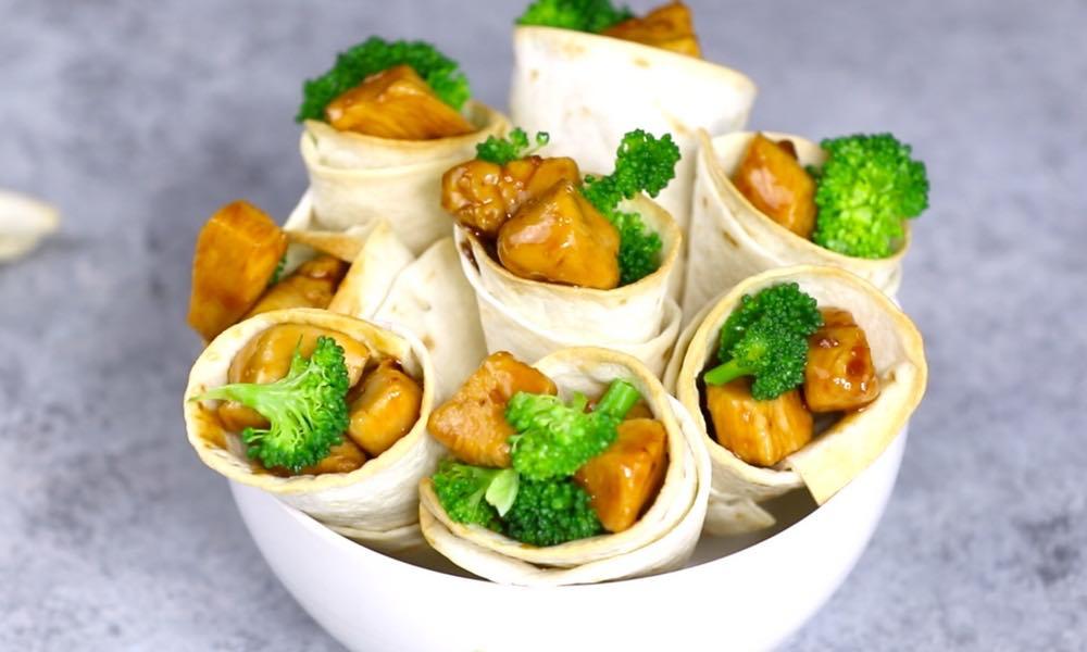 Teriyaki Chicken Cones