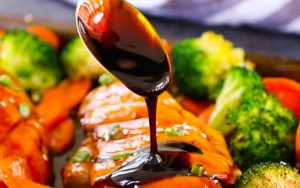 This 4 Ingredient Teriyaki Sauce is sticky, sweet and savory, totally addictive. Really easy to make and so much better than store-bought bottled sauce or the teriyaki sauce you get from your favorite takeout restaurant. Plus video tutorial!