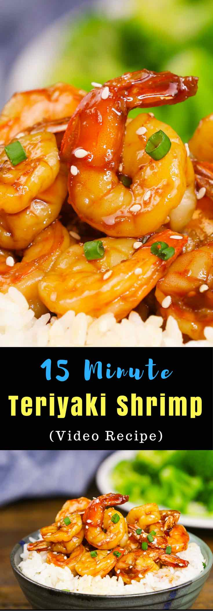 Mouthwatering teriyaki shrimp is sticky and slightly sweet, perfect as a quick weeknight dinner you can make in 15 minutes with under 300 calories.