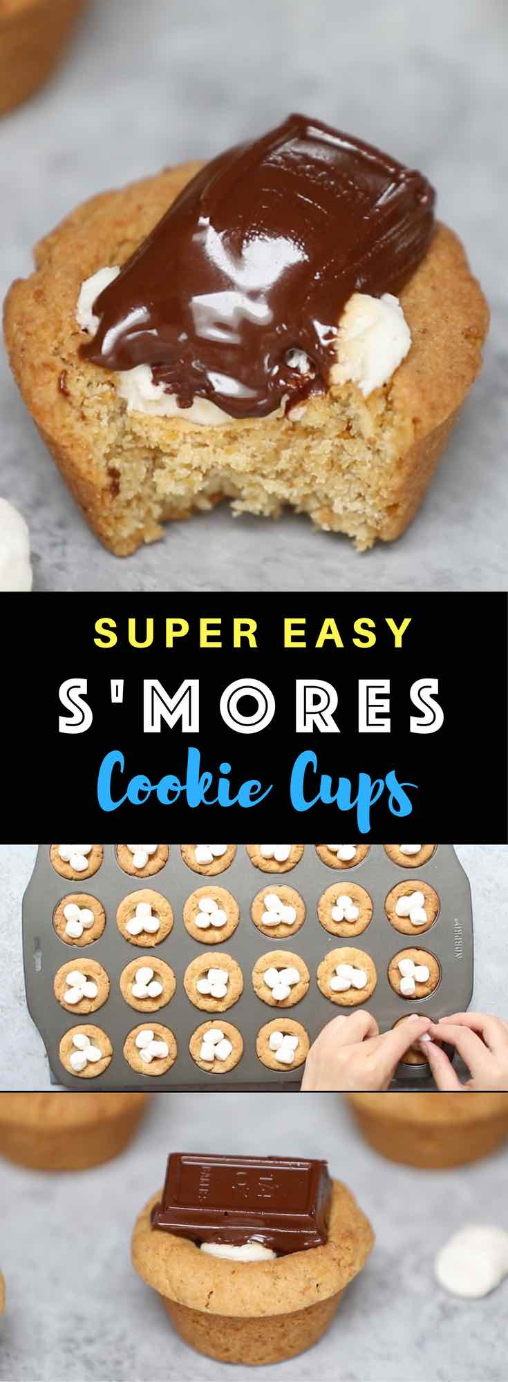 The Best S'mores Cookie Cups Recipe | TipBuzz