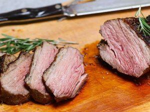 Carving tri tip roast