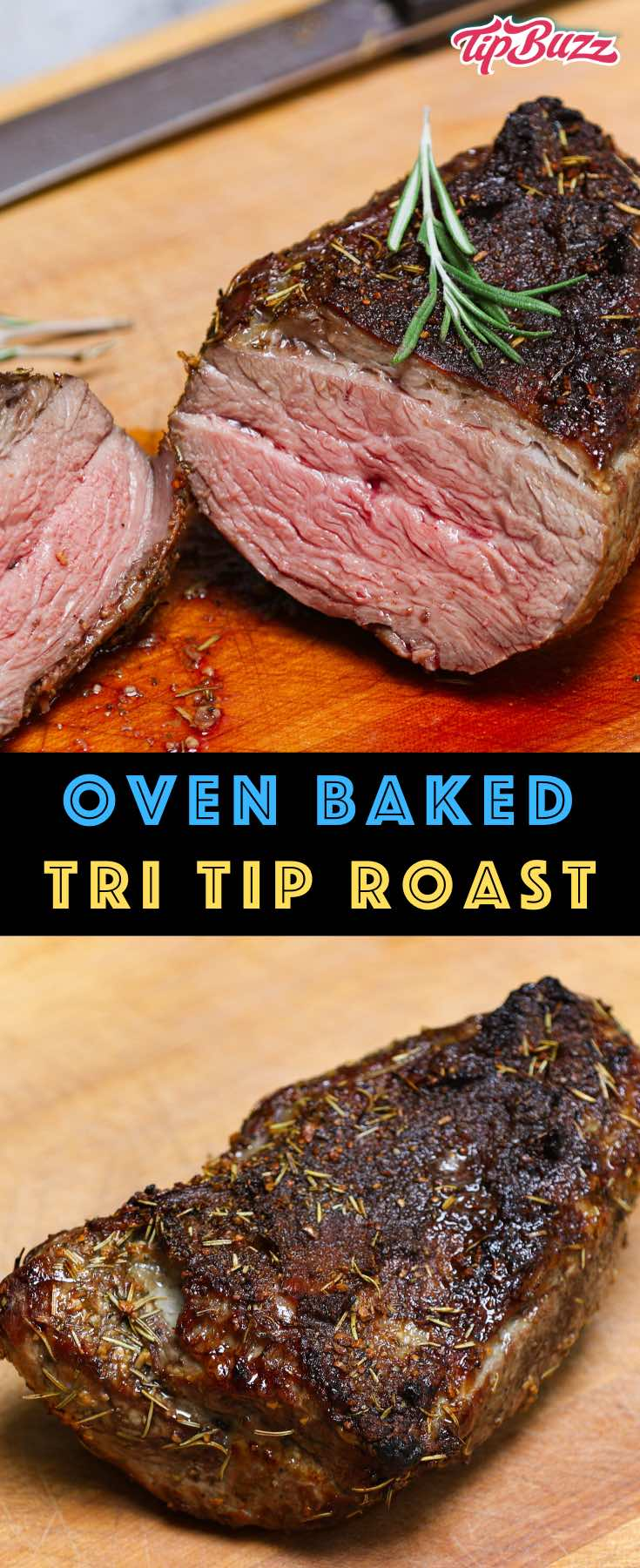 Tri Tip Roast Santa Maria style with a delicious crust and juicy beef! It's easy to make in the oven for dinner with friends or a holiday feast. Just a few simple seasonings to produce amazing flavor! #tritip #tritiproast