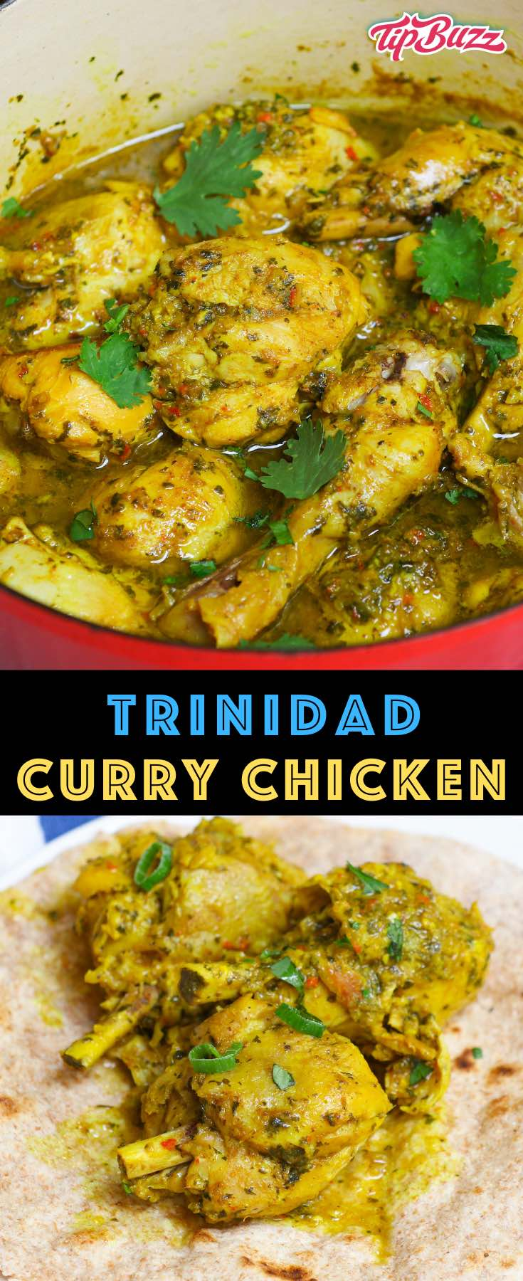 This Trinidad Curry Chicken will satisfy all your cravings for the West Indies! It's full of fiery, fragrant flavors and easy to make in less than an hour. #trinicurrychicken #currychicken