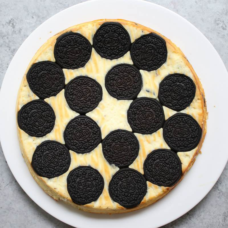 Upside Down Oreo Cheesecake