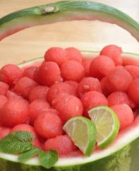Learn how to make a watermelon basket for a beautiful presentation thats healthy and perfect for a party!