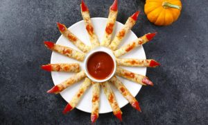 This Halloween Witches Fingers recipe is easy to make and a spooky idea for a party