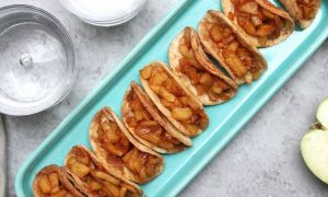 Apple Pie Tacos are an amazing dessert you can make in minutes