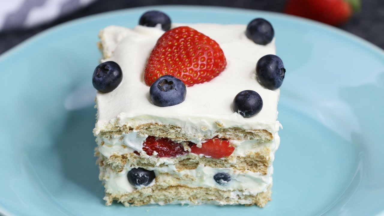 Strawberry Icebox Cake With Vanilla Wafers