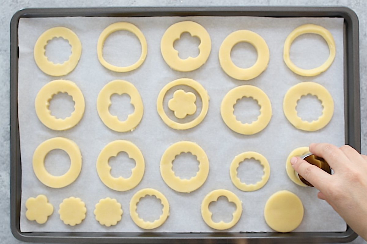 Use cookie cutters to cut out your desired shapes.